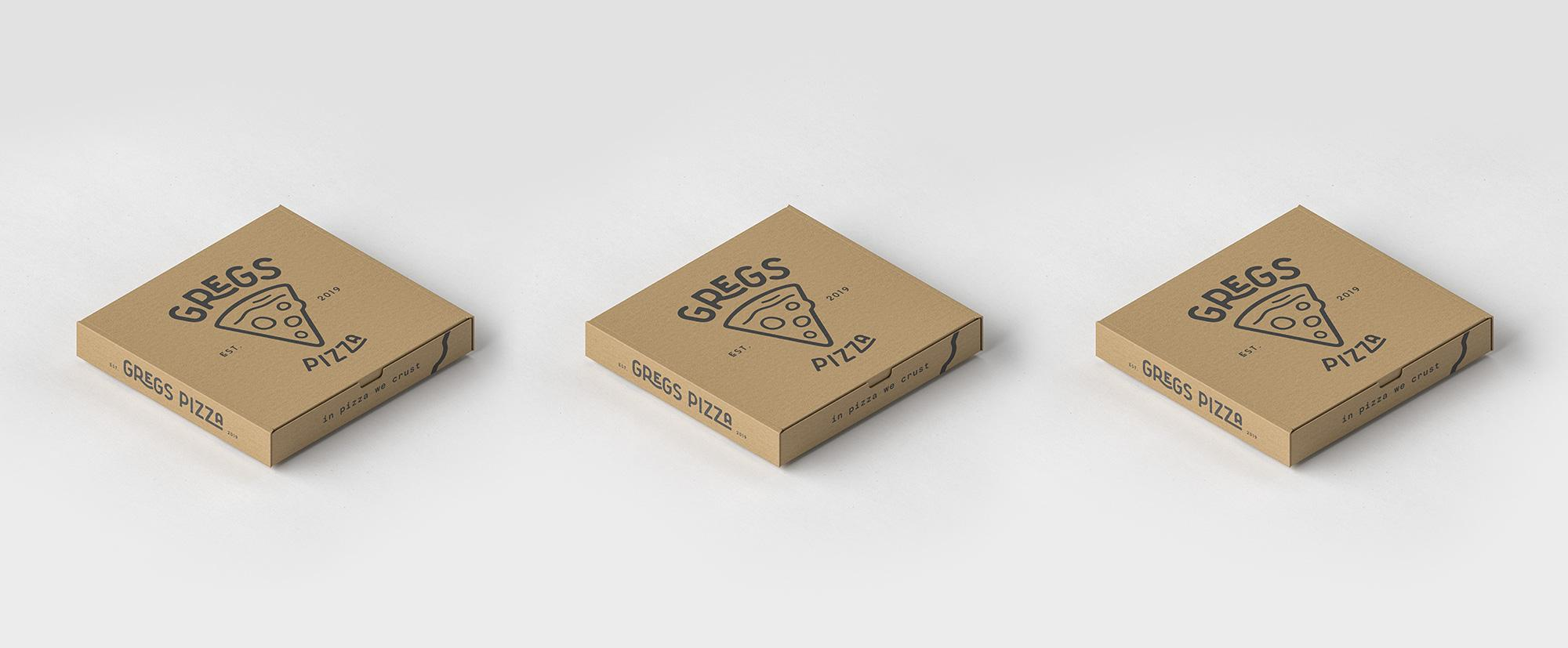 Gregs Pizza Boxes